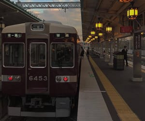 aesthetic, japan, and train image