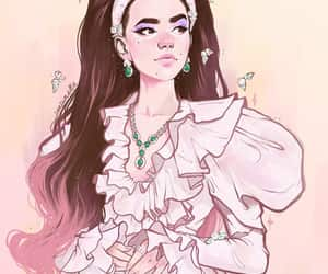 fanart, metgala, and lily colling image