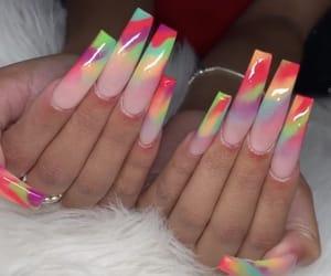 art, long nails, and nail art image