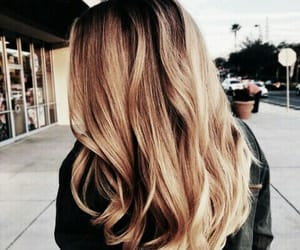 blonde, curl, and haïr image