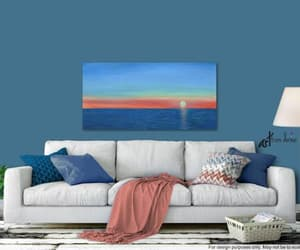 etsy, living room wall art, and seascape painting image