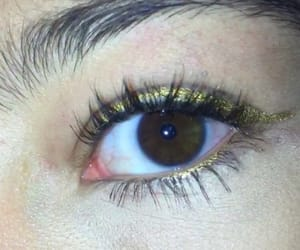 brown, eye, and gold image
