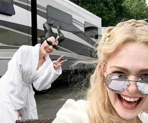 Angelina Jolie, maleficent, and Elle Fanning image
