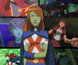 gif, young justice, and miss martian image