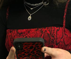 black, red and black, and fashion image