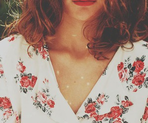 vintage, hair, and floral image