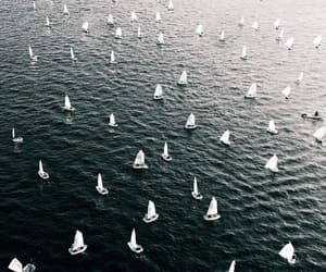 aerial photography, sailboats, and aerial view image