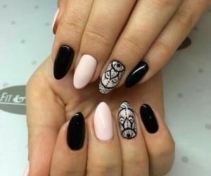 nails, amazing, and black image