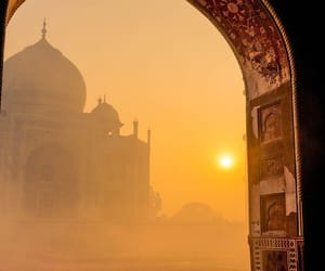 india, sun, and travel image