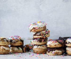 dessert, donuts, and donut image