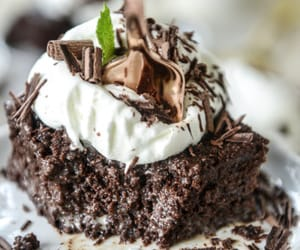 cake, chocolate, and food porn image