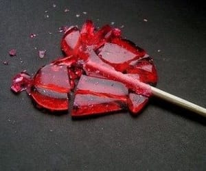 broken heart, candy, and heart image