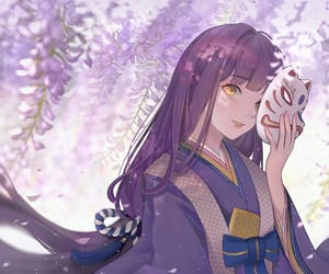 anime, beautiful, and flowers image