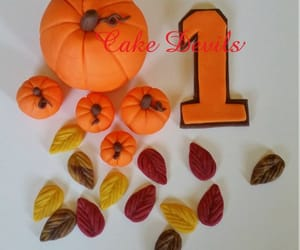cake topper, pumpkins, and caketopper image