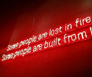 neon, quote, and red image