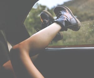 car, travel, and girl image