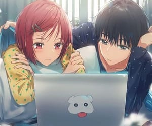 couple, love, and anime image