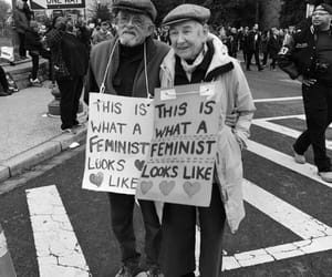 feminist, feminism, and women's march image