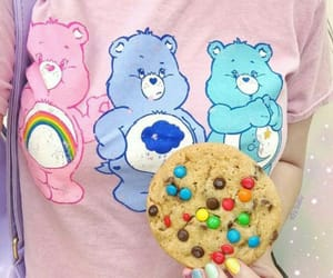 care bears, cookie, and pink image