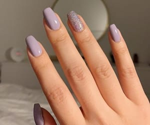 nails, cute, and purple image
