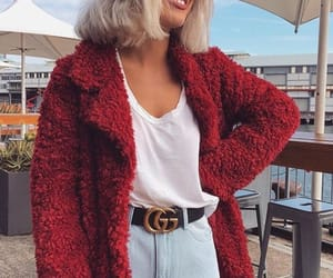 jeans, red, and fashion image