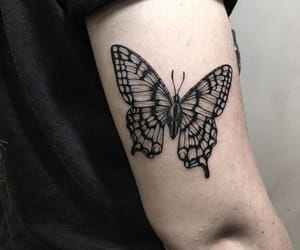 arm, art, and butterfly image