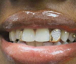 gold, diamonds, and grill image