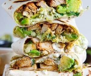 food, Chicken, and avocado image