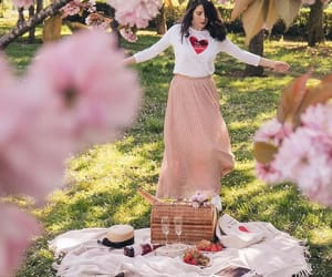 blossom, nature, and picnic image