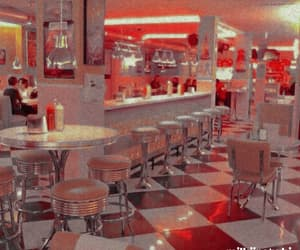 90s, aesthetic, and diner image