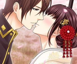 anime, kiss, and blush image