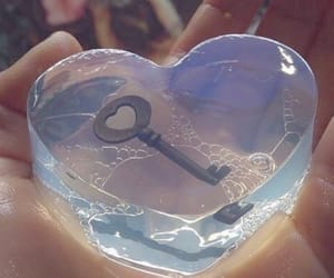 blue, heart, and blue hearts image