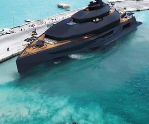 luxury, black, and yacht image