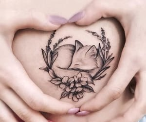 art, tattoo, and belly image