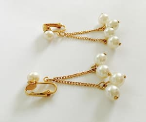 etsy, elegant earrings, and comfortable clip-on image
