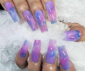 blue, nails, and purple image