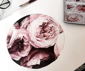 art, painting, and floral image
