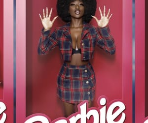 barbie, black, and girl image