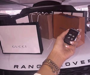 car, gucci, and range rover image