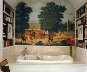 art, bathroom, and interior image