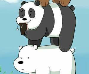 background, bears, and cartoon image