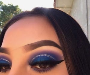 makeup, blue, and make image