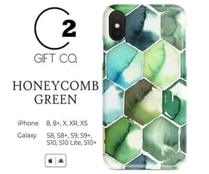 case, green, and honeycomb image