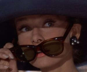 audrey hepburn, sunglasses, and Breakfast at Tiffany's image
