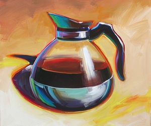acrylic, coffee, and painting image