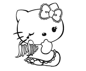hello kitty, angel, and cute image