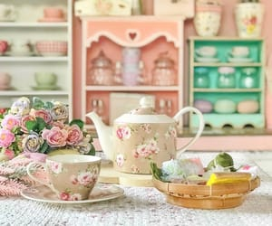 beautiful, tea cup, and vintage image