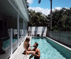 couple, family, and pool image