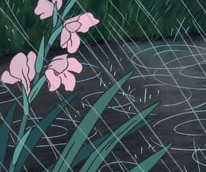 cartoon, rain, and sad image
