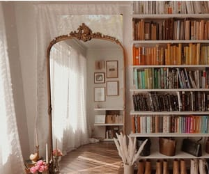 aesthetic, books, and mirror image